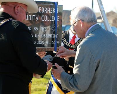 Masons lay cornerstone at Western Nebraska Community College