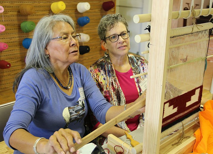 Navajo weaver shares her skills, teaching at Brown Sheep Company