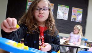 Kindergarten students learn the five senses in fun project
