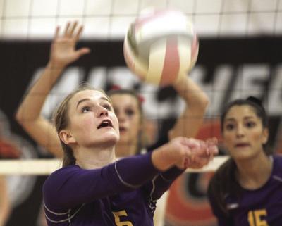 Mitchell volleyball team turns back Bridgeport