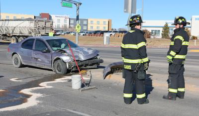 One person injured in crash on Highway 26 and 27th Street