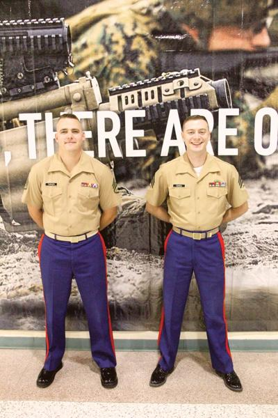 On duty with the USMC recruiters: Changing of the guard at the local recruiting office