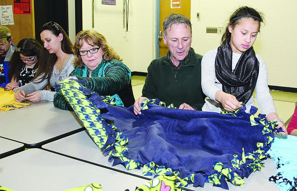 making blankets in p e class local news