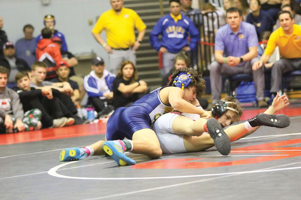 Gering wrestlers claim B-4 district title