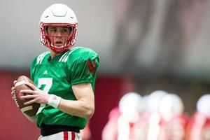Luke McCaffrey isn't the Huskers' starting QB in 2019. That doesn't stop him from practicing like it