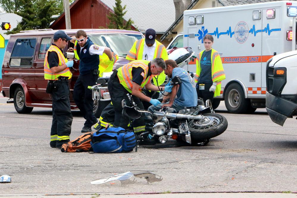 Scottsbluff man injured in motorcycle vs. vehicle collision