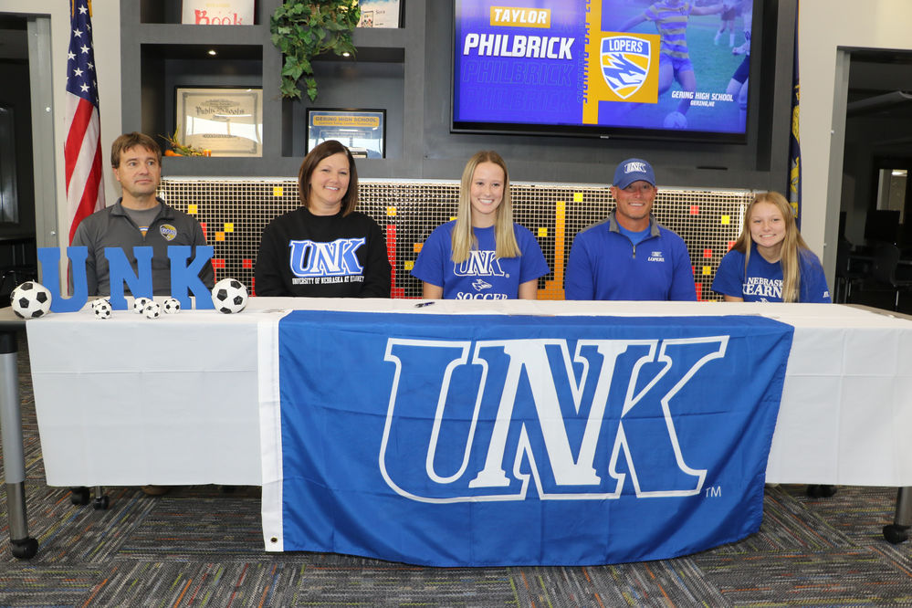 Taylor Philbrick signs a letter of intent to play soccer at the University of Nebraska at Kearney