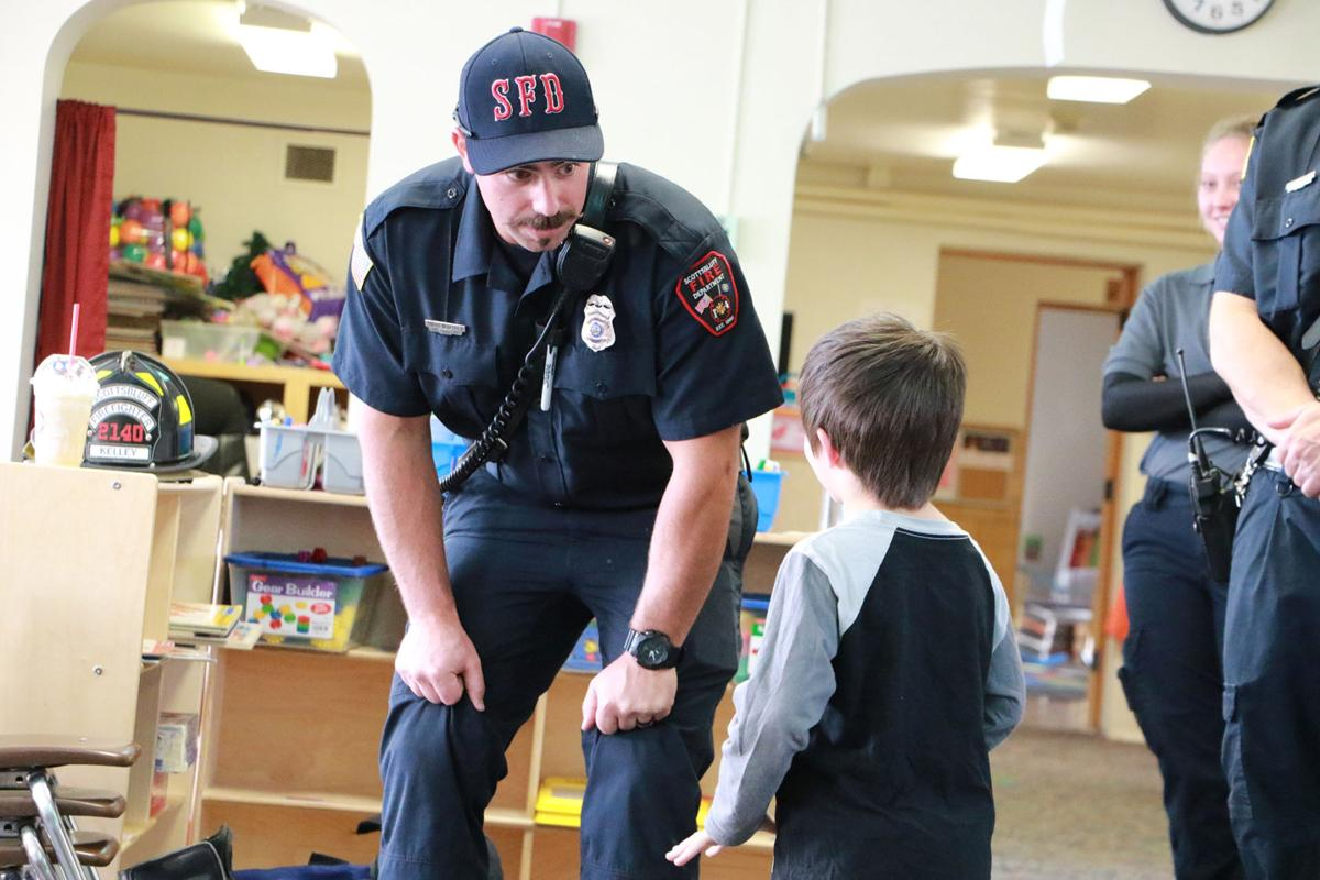 PHOTOS: Firefighters visit Bearcub Preschool
