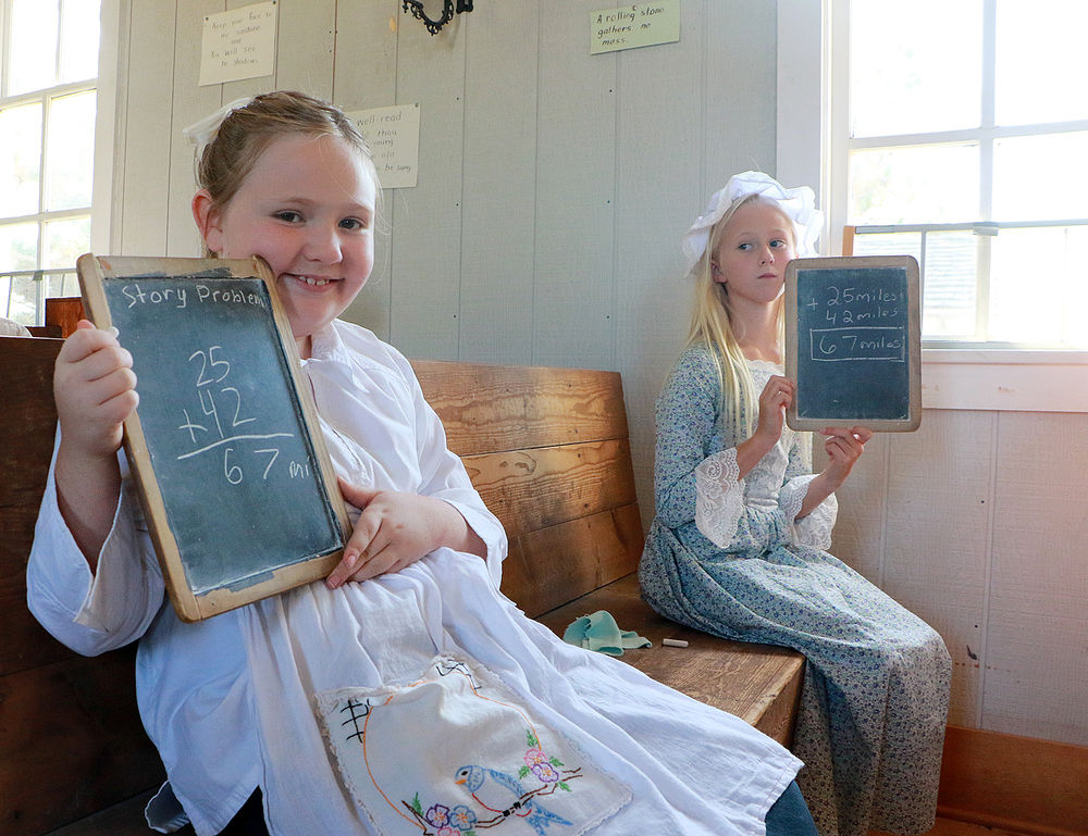 Westmoor students go back to school days of yesteryear at Flowerfield