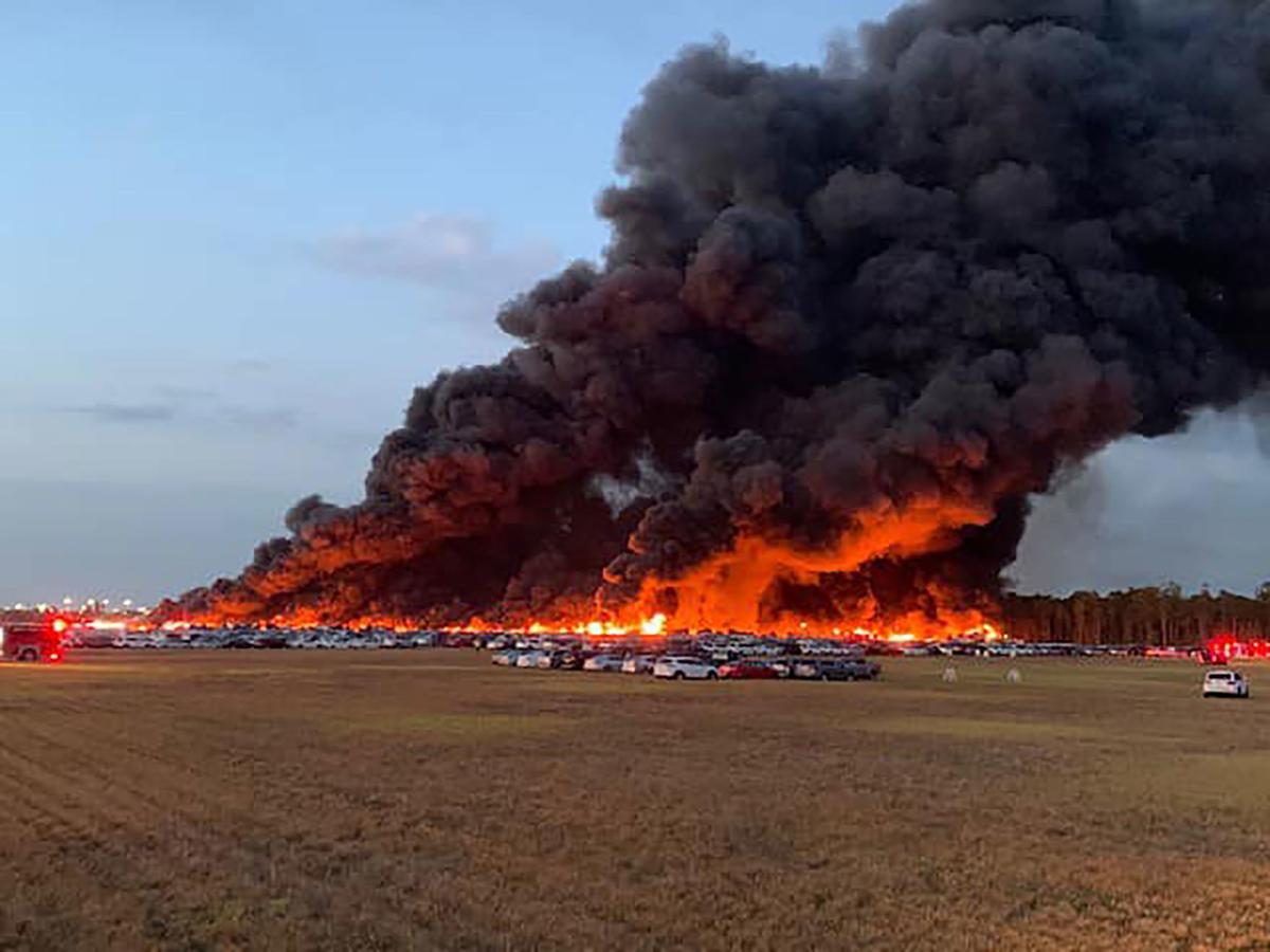 Southwest Florida International Airport Car Fire