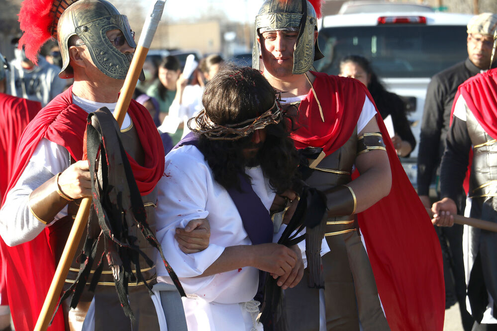 Our Lady of Guadalupe reenacts Stations of the Cross on Good Friday