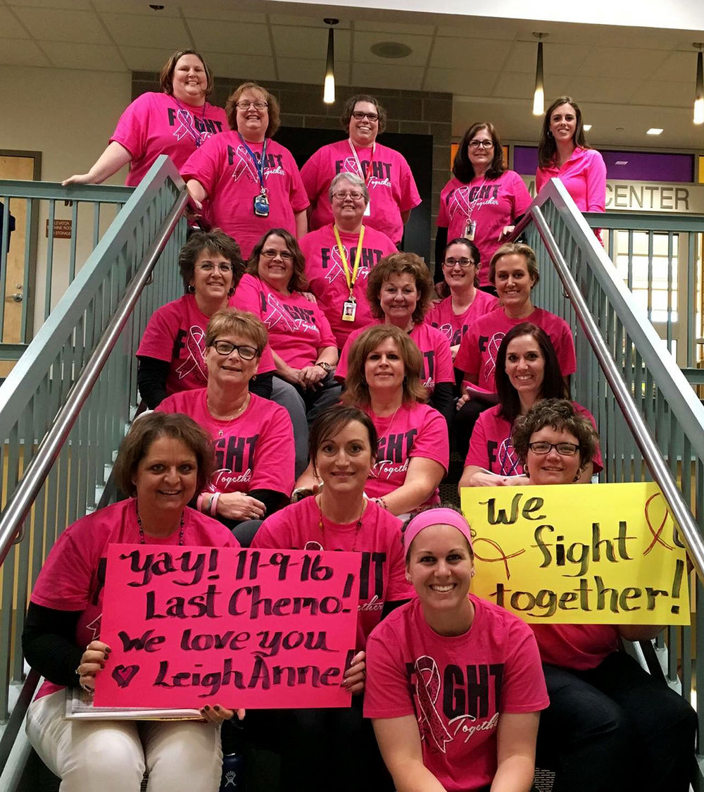 Students motivate Tofflemire to beat breast cancer
