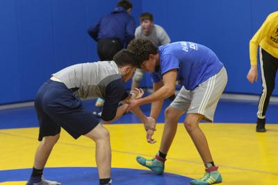 The Gering wrestling team is breaking in its new gym