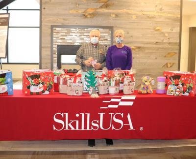EWC SkillsUSA members donate gifts to the Torrington Learning Center