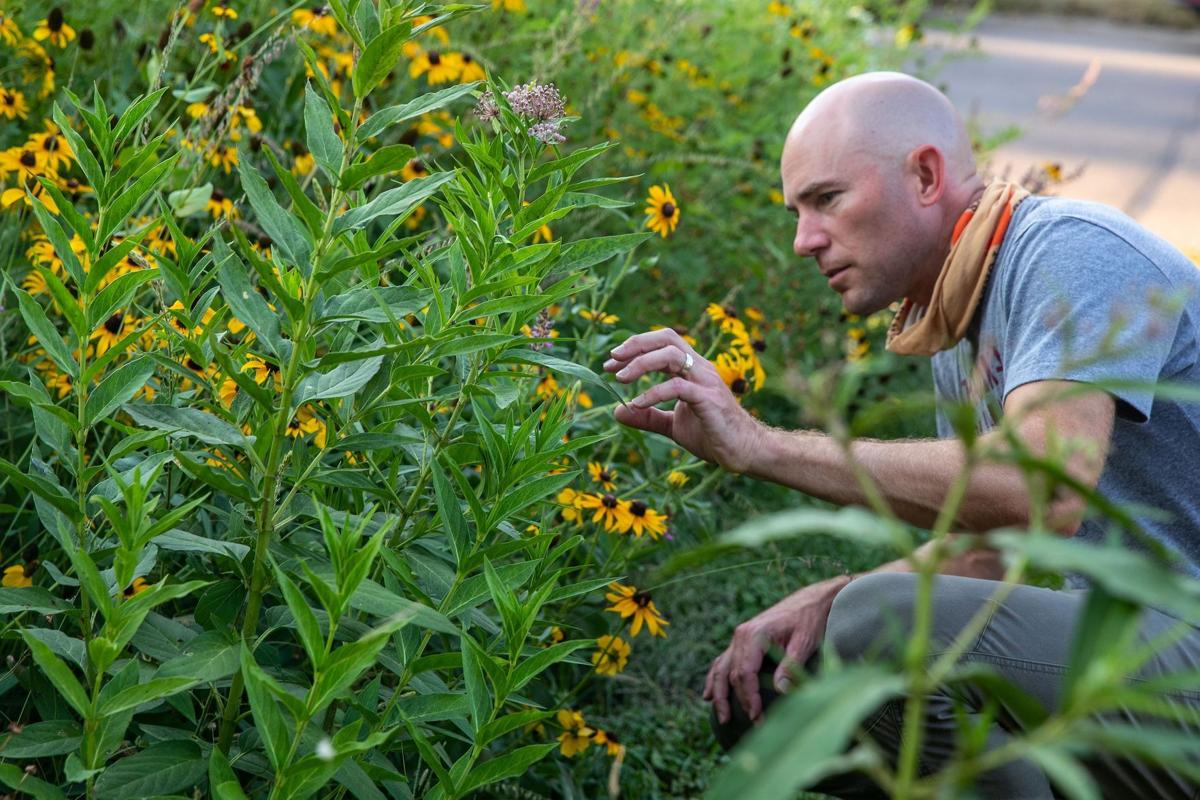 Omaha officer finds peace in huge prairie garden