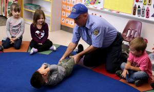 Firefighters visit Lincoln Elementary to give lessons on fire prevention