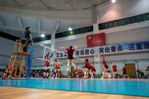 Husker volleyball team pushes summer record to 3-2 with win in first match in China