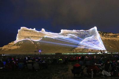 Light show kicks off Day of Giving