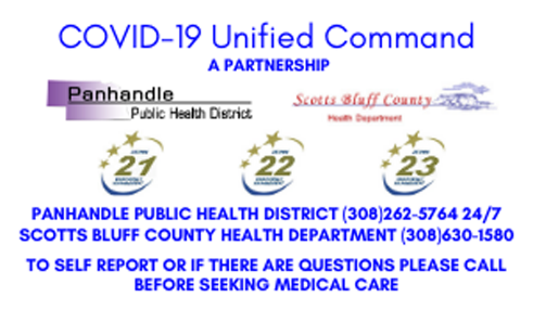Panhandle COVID-19 Unified Command Announces Locations of Potential Community Exposure from Recently Confirmed Case in Scotts Bluff County