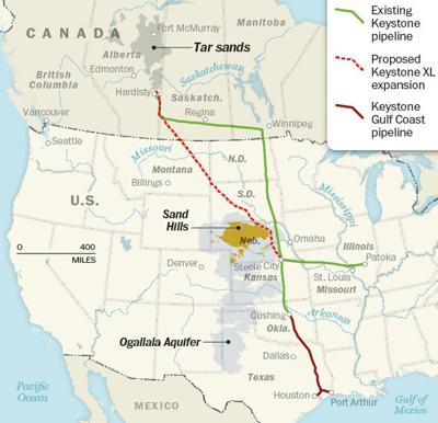 AWTRY: Dear Mr. President, oops I made a mistake! | Opinion ... on bakken pipeline map, ogallala aquifer map, north american pipeline map, nexus gas transmission pipeline map, alaska pipeline map, enbridge pipeline map, keystone pipeline map us, et rover pipeline map, sandpiper pipeline map, barack obama map, northern gateway pipeline map, keystone pipeline contractors, keystone pipeline project, middle east map, new keystone pipeline revised map, petroleum pipeline map, strategic relocation north american map, arctic pipeline map, ohio pipeline map, keystone pipeline map ok,