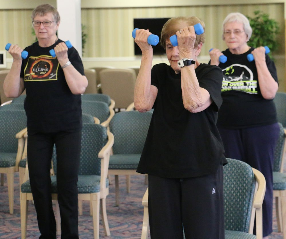 Seniors get movin' during fitness class