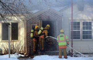 Firefighters battle blaze in Morrill