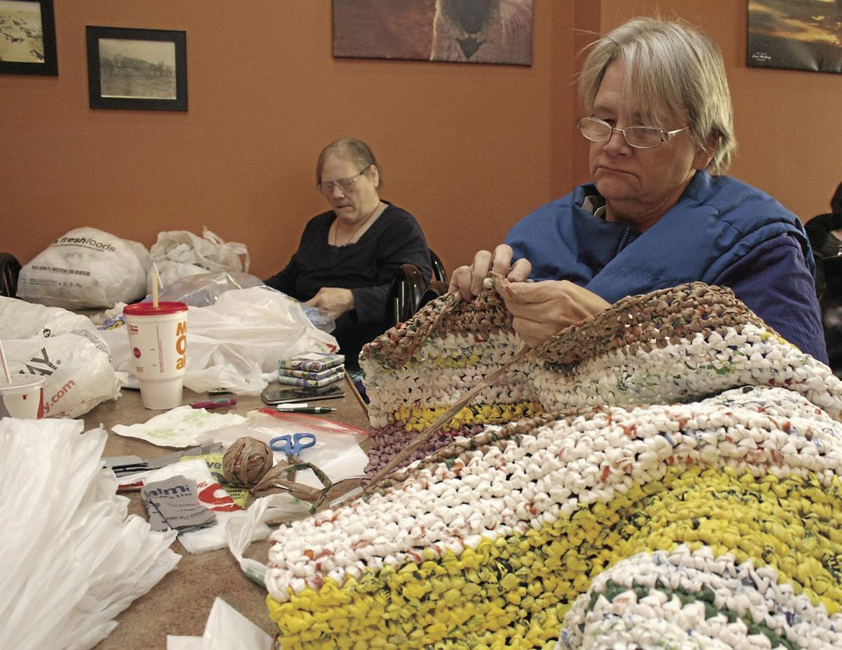 Group Crochets Recycle Plastic Bags Into Mats Lifestyle