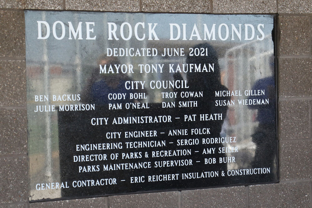 City of Gering holds dedication ceremony for Dome Rock Diamonds