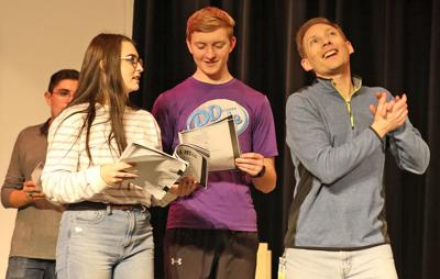 Gering students prepare to present the musical 'Mamma Mia!'