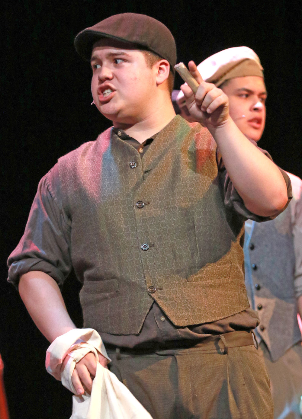 Scottsbluff High School's Billy Mosher named outstanding actor for role in Newsies