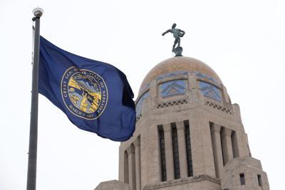 nebraska state capitol teaser dome flag