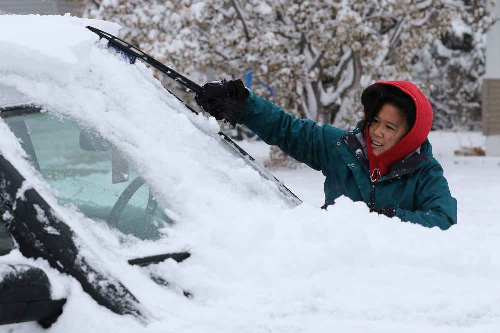 Winter storm blankets the area, 8 to 13 inches reported throughout the Panhandle
