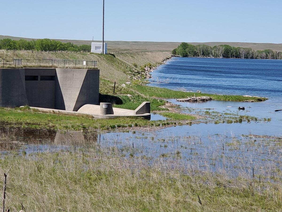 Box Butte Dam near spilling over