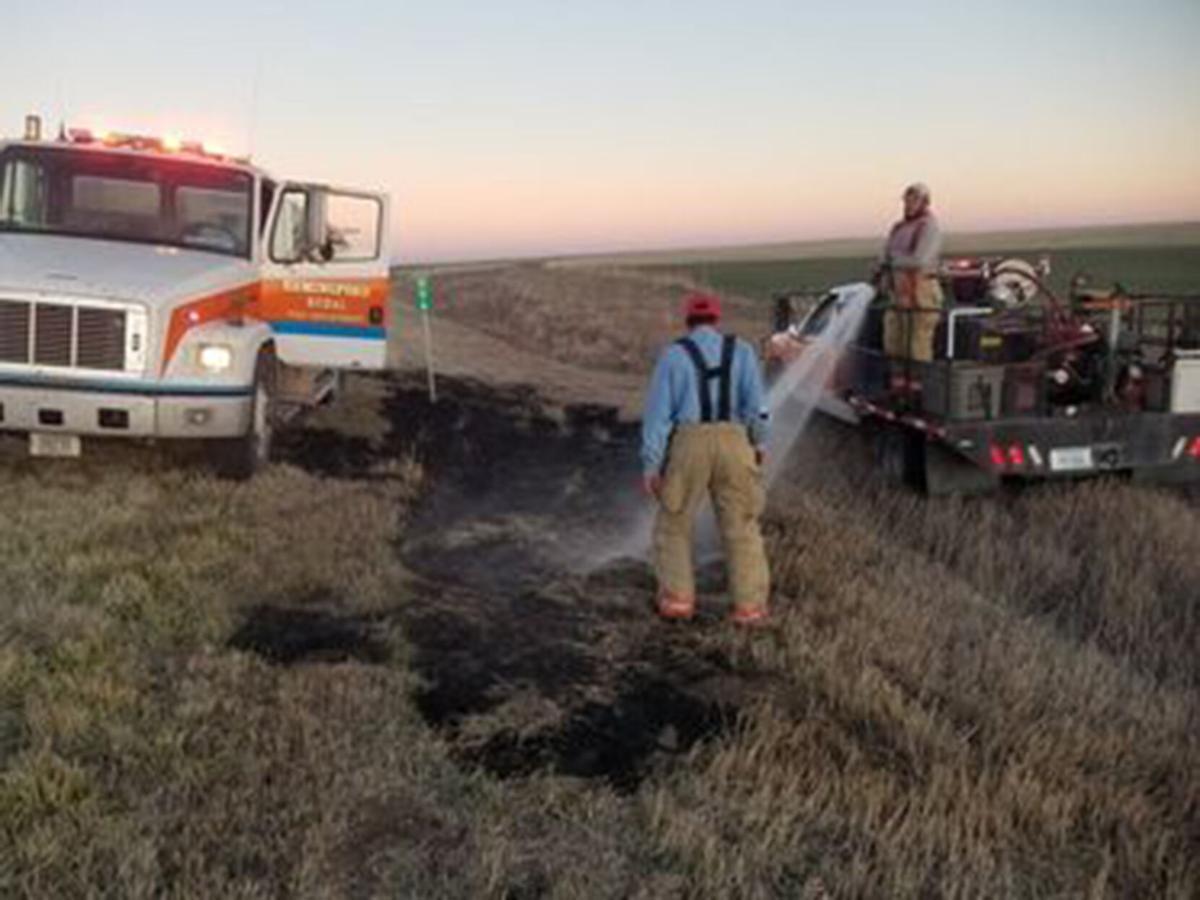 HVFD put out numerous spot fires