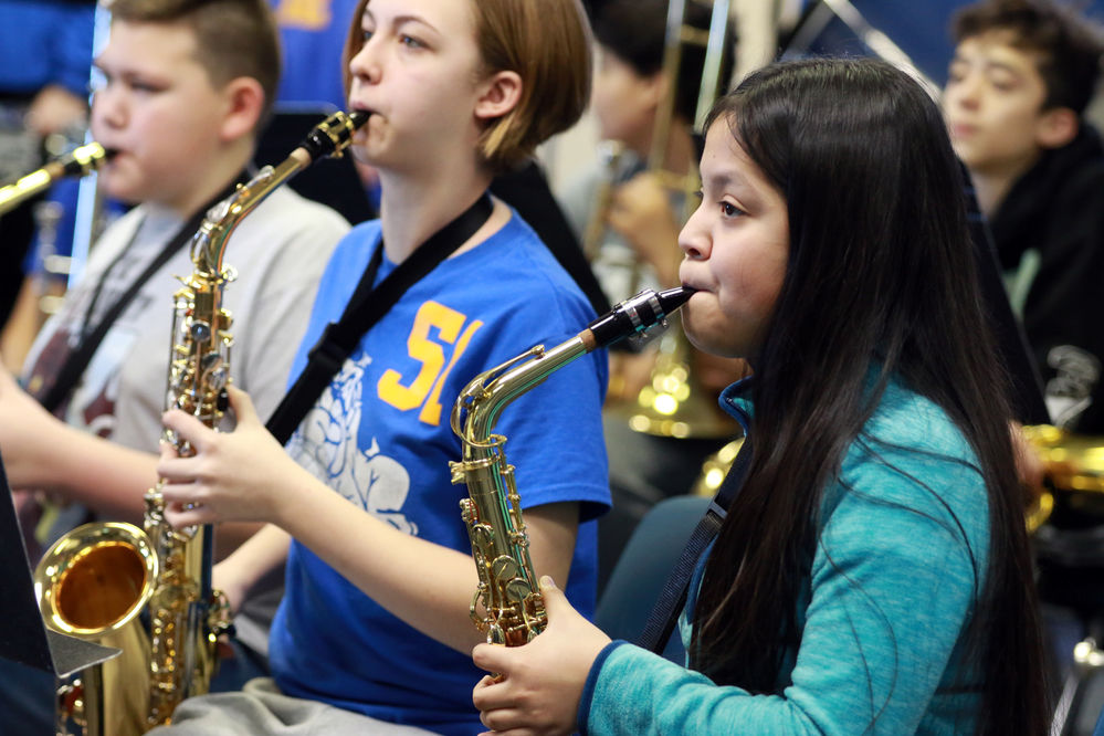 Students earn 113 superior ratings at Middle-Level Music Contest