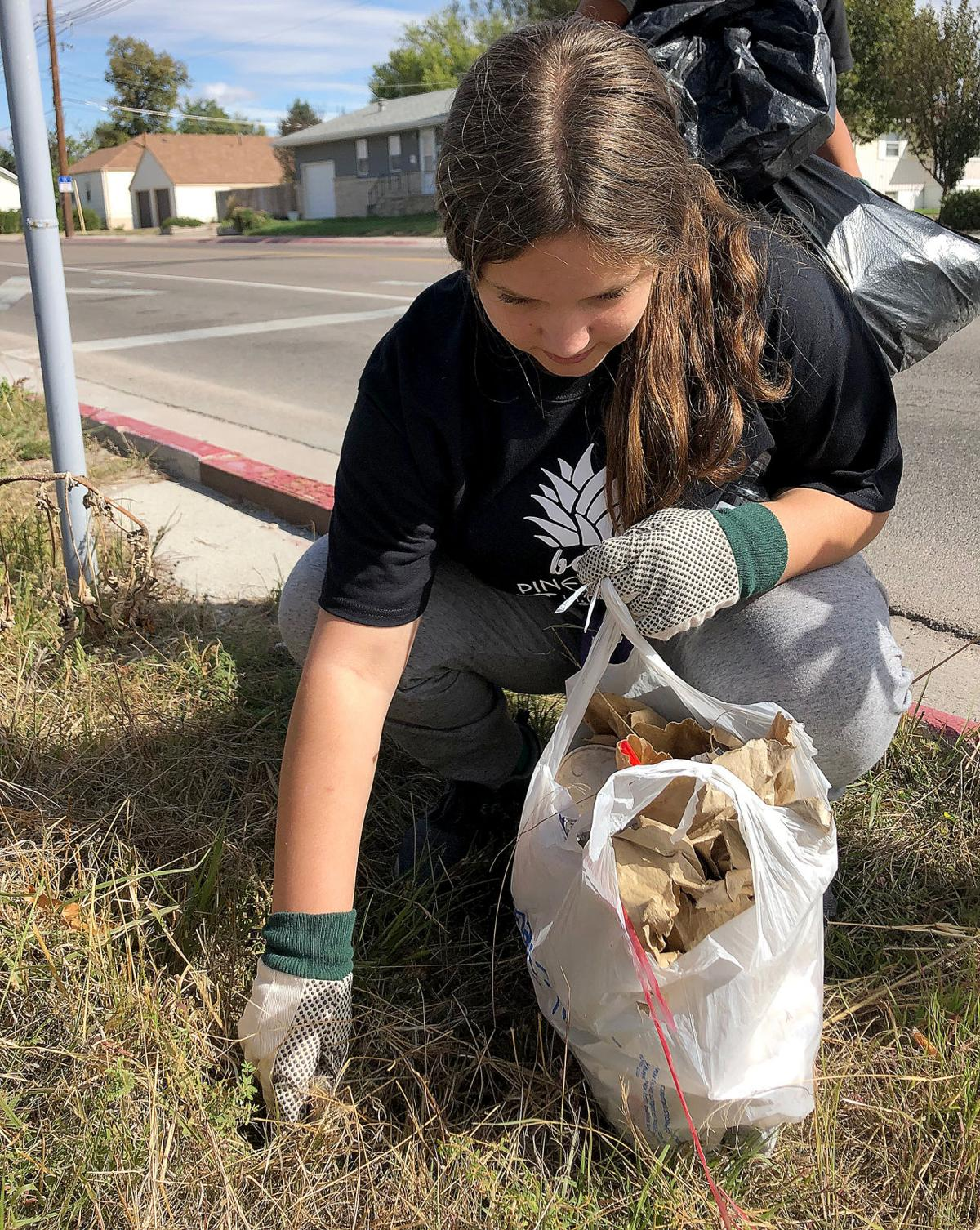 Community Christian students clean up community