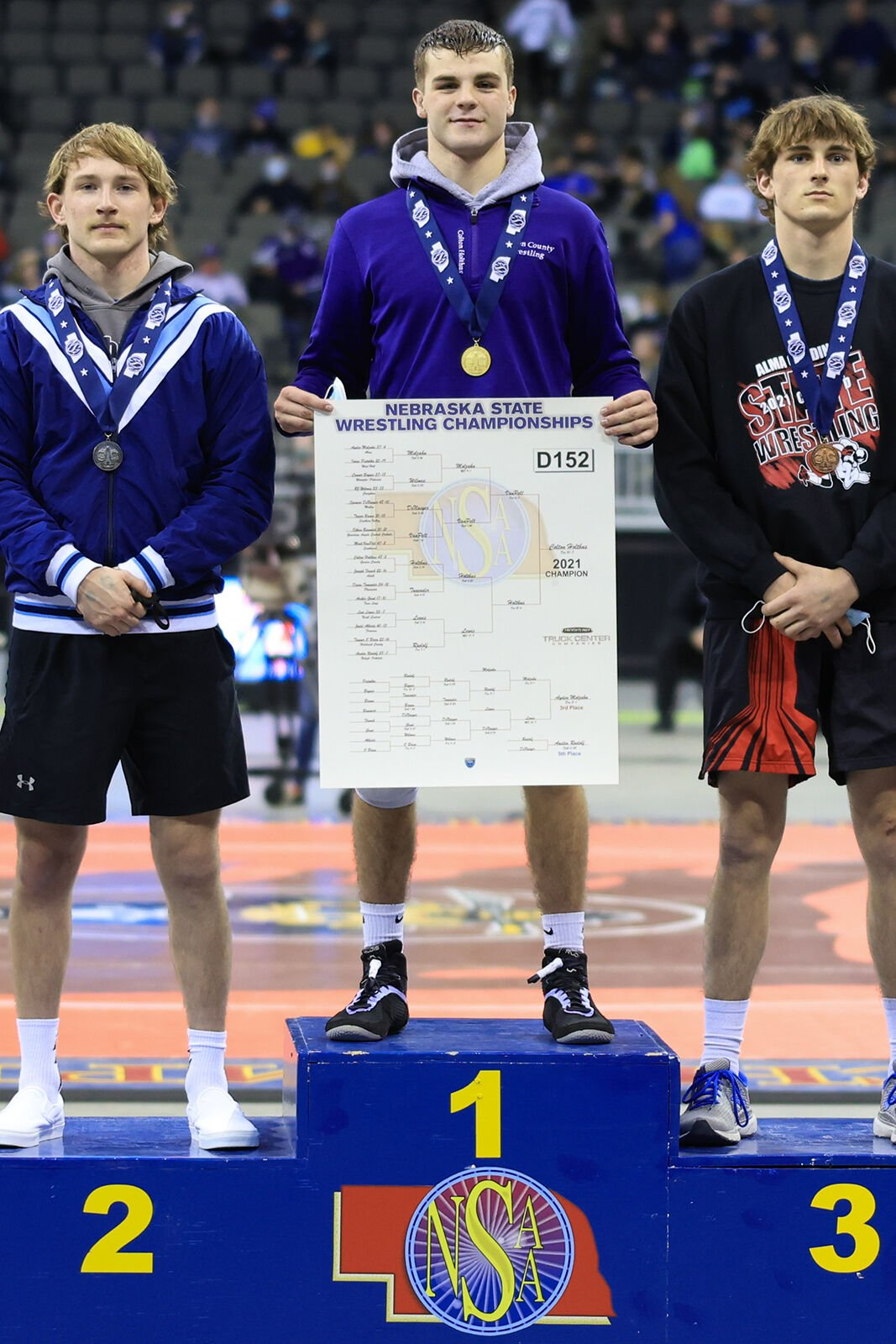 Garden County's Colton Holthus repeats as state champion