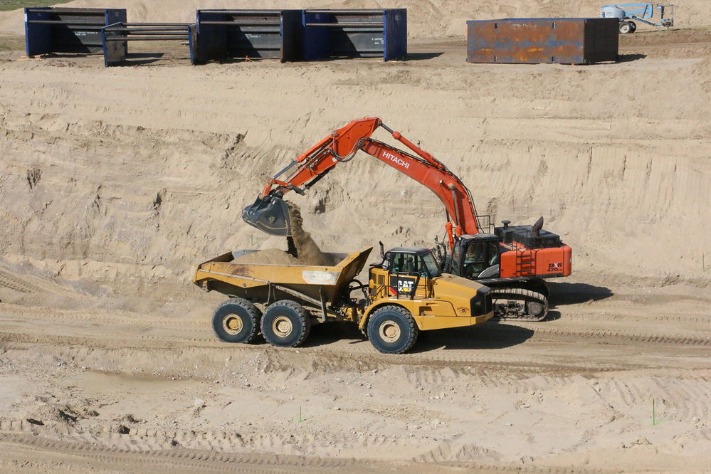 Crews reach the second hole in the Gering-Fort Laramie Irrigation Canal