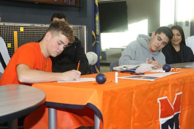 Mark Karpf, Dyson Dollarhide sign with Midland tennis