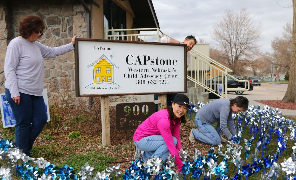 Pinwheels highlight work at CAPstone child advocacy center