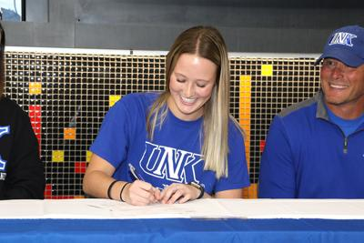 Gering's Taylor Philbrick signs a letter of intent to play soccer at the University of Nebraska at Kearney