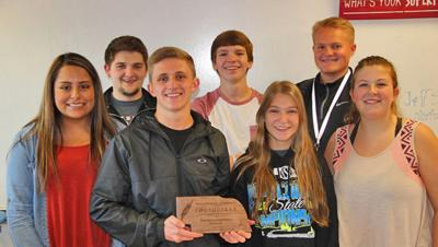Scottsbluff students with the Bluff and the Echoes receive award