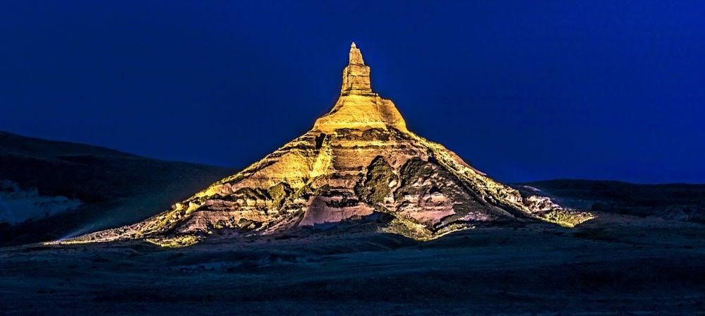 The Rock Scottsbluff Christmas 2020 Chimney Rock lights up the night | Local | starherald.com