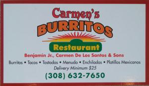 Carmen's Burrito Sign