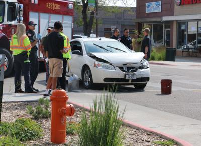 No injuries in three-car collsion on Broadway