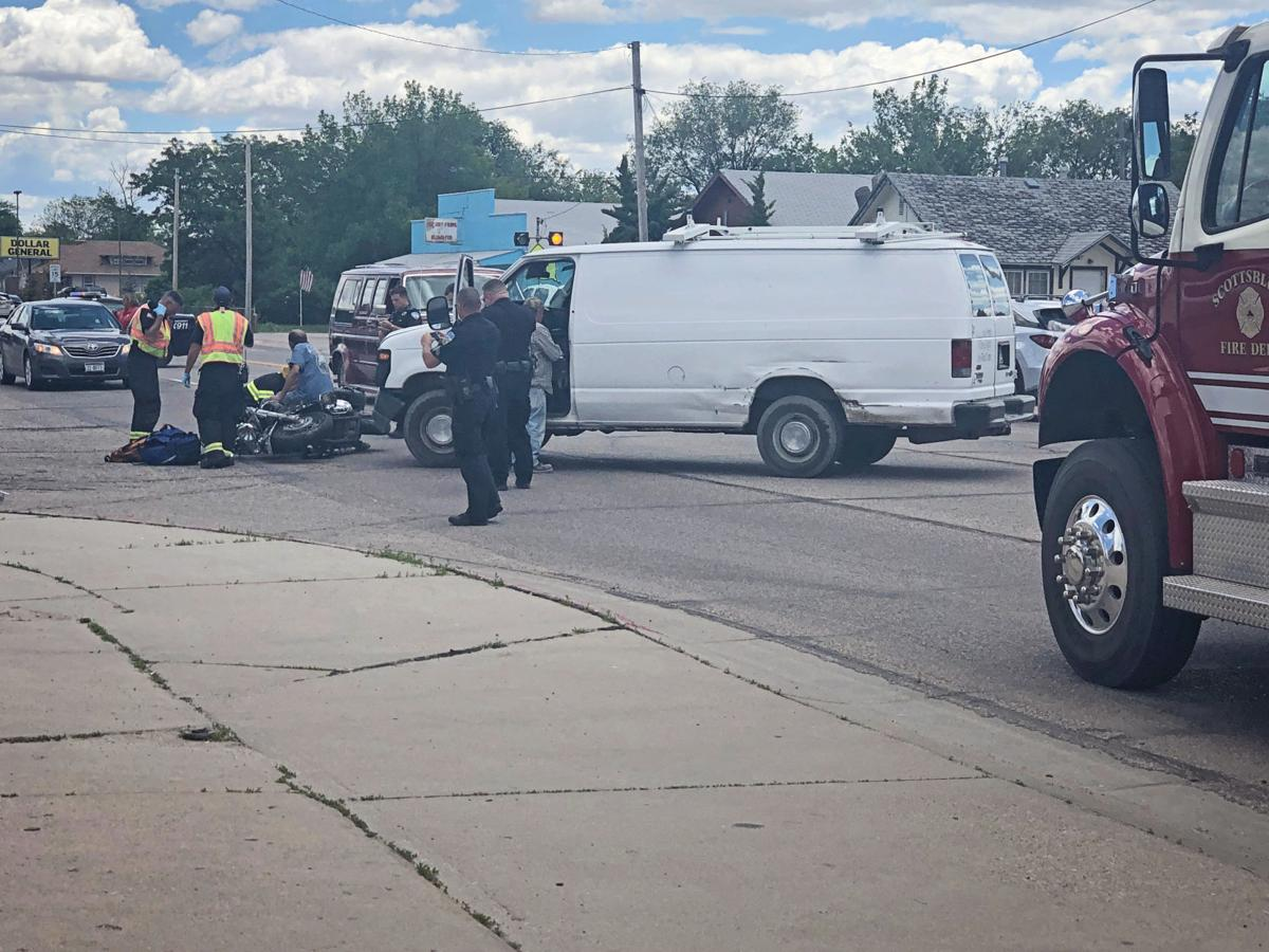 Police investigating motorcycle vs. vehicle collision