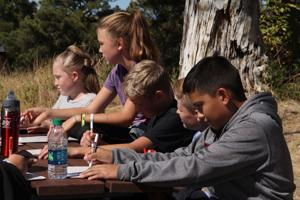 Sixth-graders learn about woodlands at Wildcat Hills