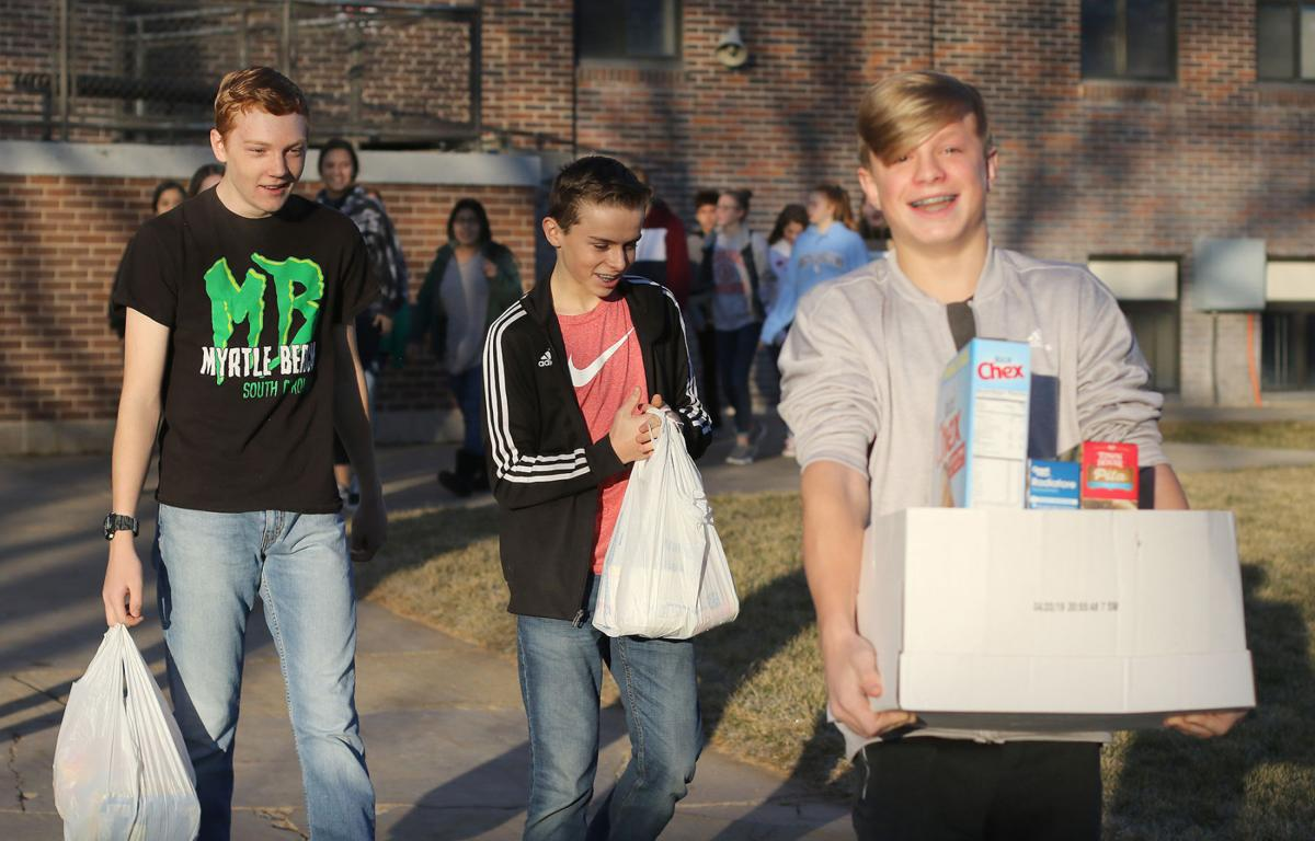 PHOTOS: BMS Food Drive