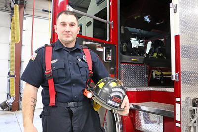 Running toward danger, police officer turns firefighter