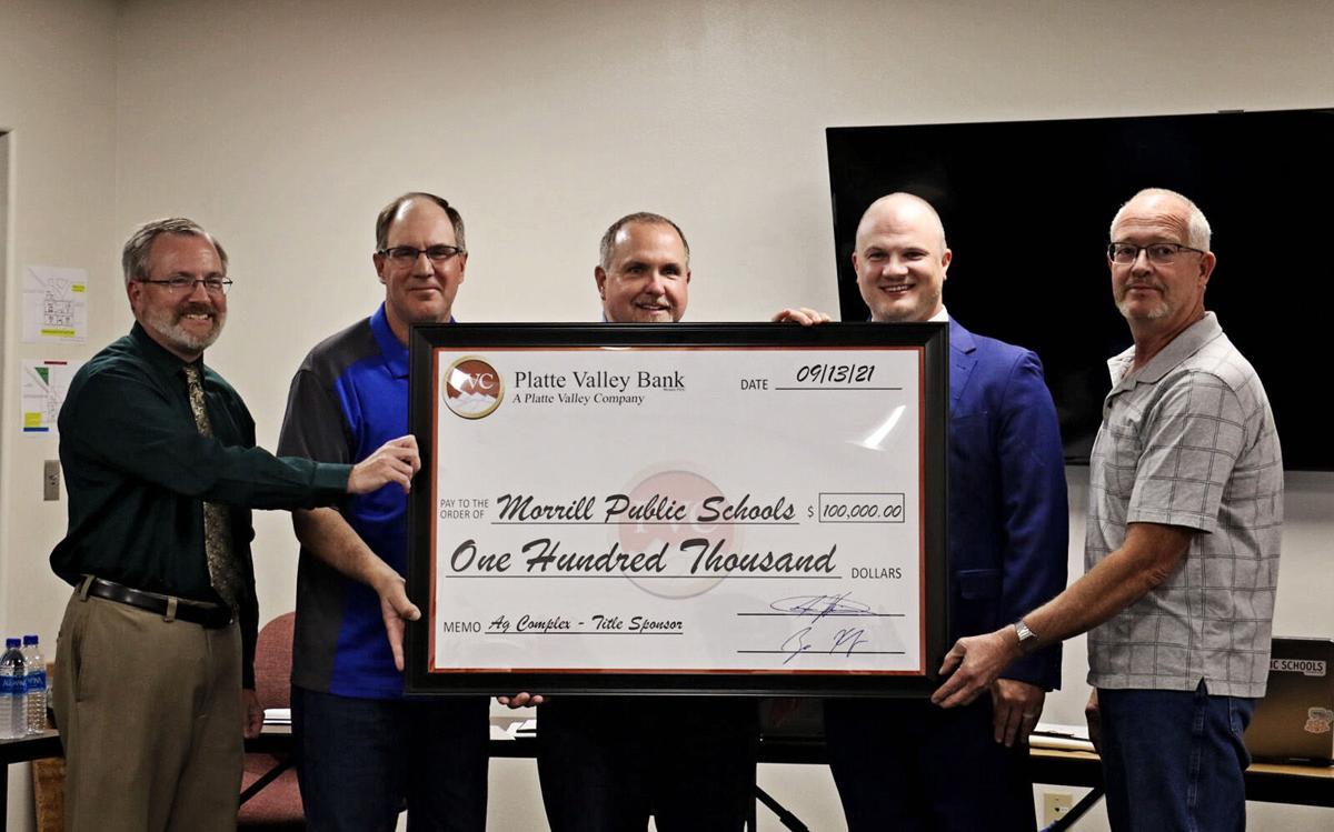 Platte Valley Bank donates $100,000 to Morrill complex project